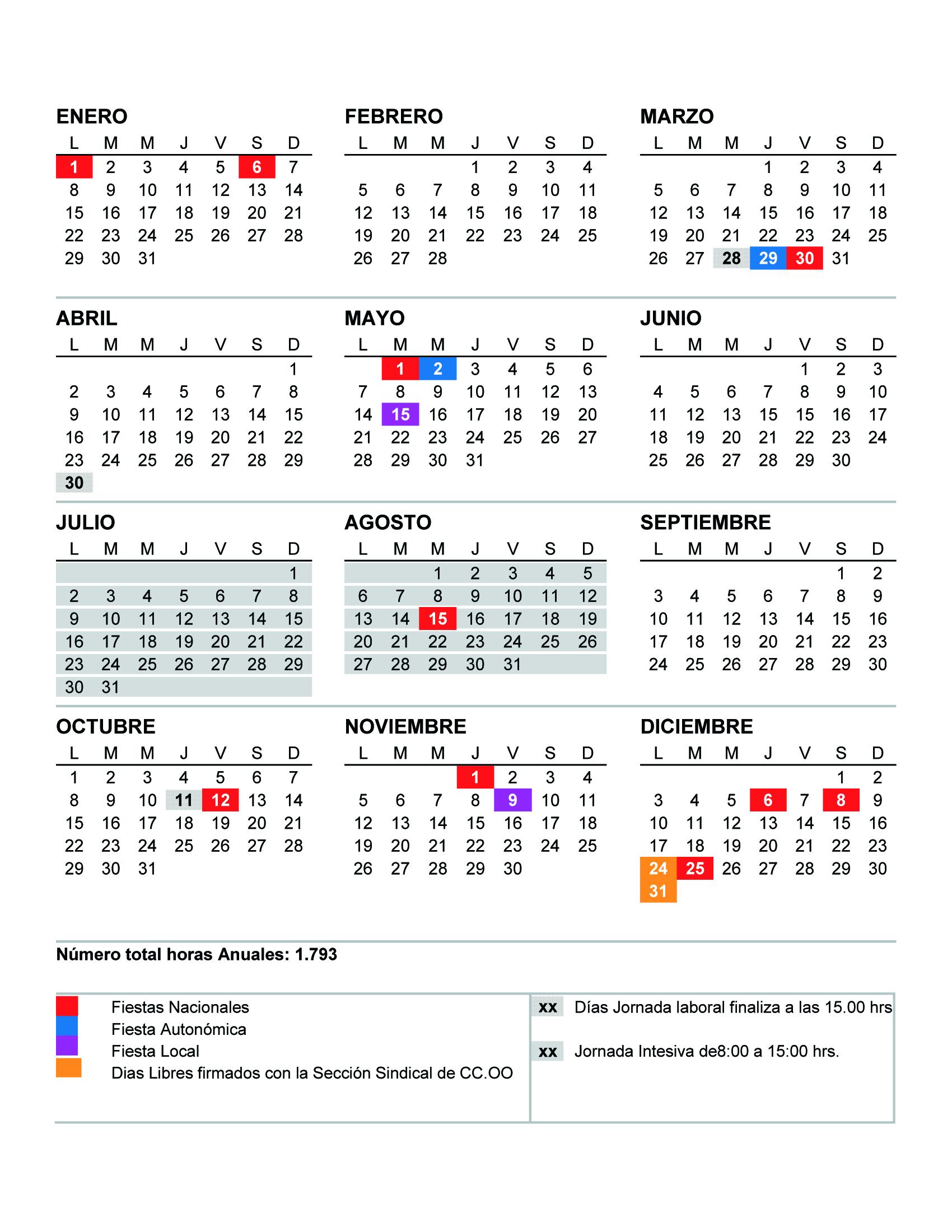CalendarioLaboral2018